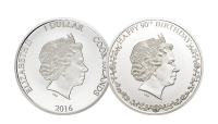 Double Headed Queens 90th Birthday Silver Coin 3