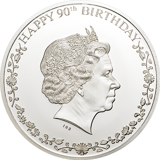 Double Headed Queens 90th Birthday Silver Coin 1