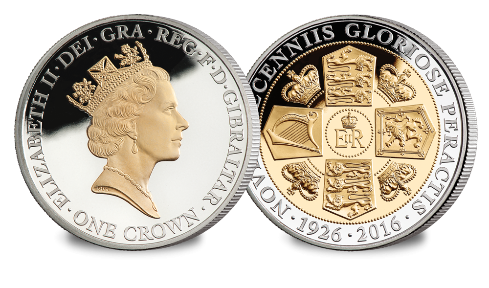 Her Majesty's 90th Birthday Crown Coin - The first Maklouf Portrait