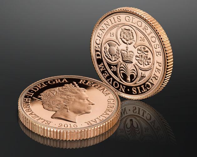 The Queen Elizabeth II 90th Birthday Piedfort 1/4 Sovereign