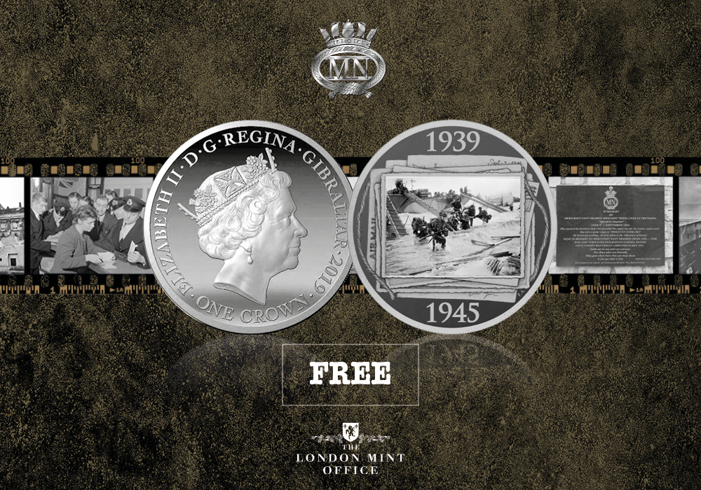 Official D-Day 75 Anniversary Coin – in Partnership with the Merchant Navy Association