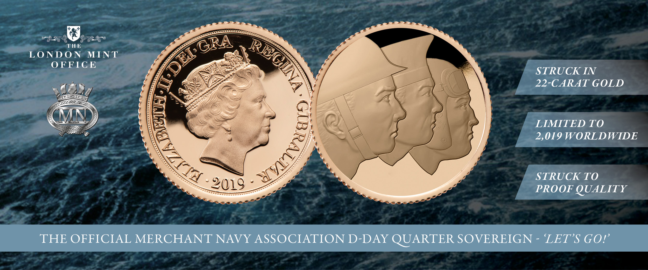 The Official D-Day 75th Anniversary Quarter Sovereign: Let's Go