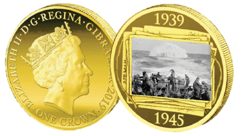 Road to Victory Battle of Atlantic coin