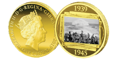 Official Road to Victory Battle of Atlantic coin