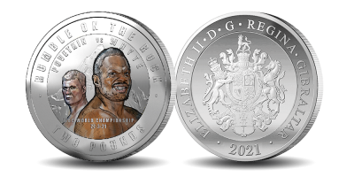 The Official WBC Rumble on the Rock 'Whyte Vs Povetkin' £2 Silver Coin