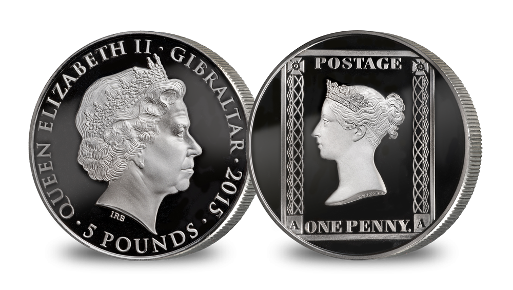 The 175th Anniversary of the Penny Black Silver Coin