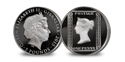 175th Anniversary of the Penny Black Silver Coin