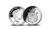 George IV's spectacular 'Shield' design, emastered in a strictly limited and exclusive one-year-only pure silver edition.