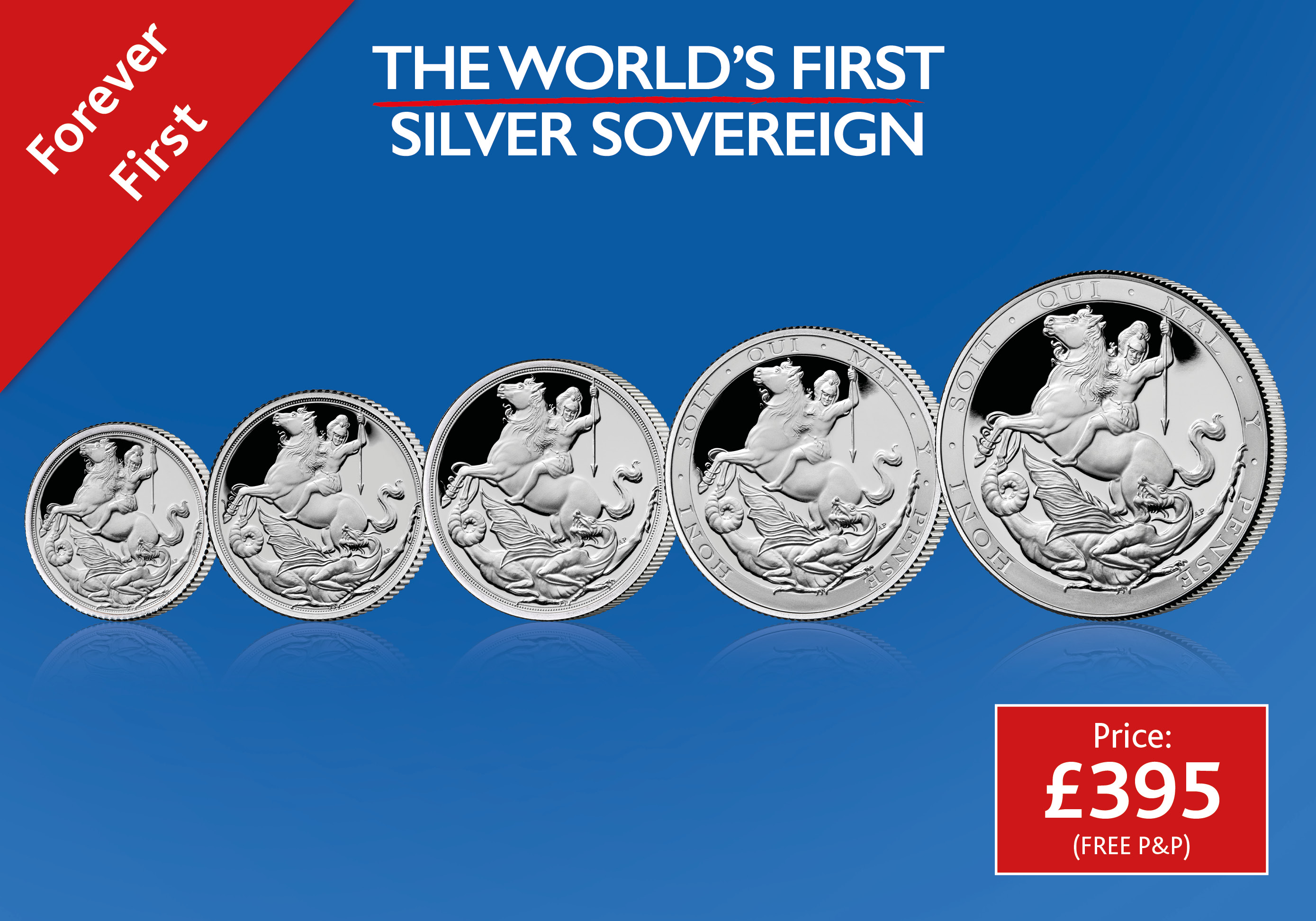 Silver Sovereign 5 Coin Set