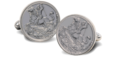 World's First Silver Half Sovereign Cufflinks