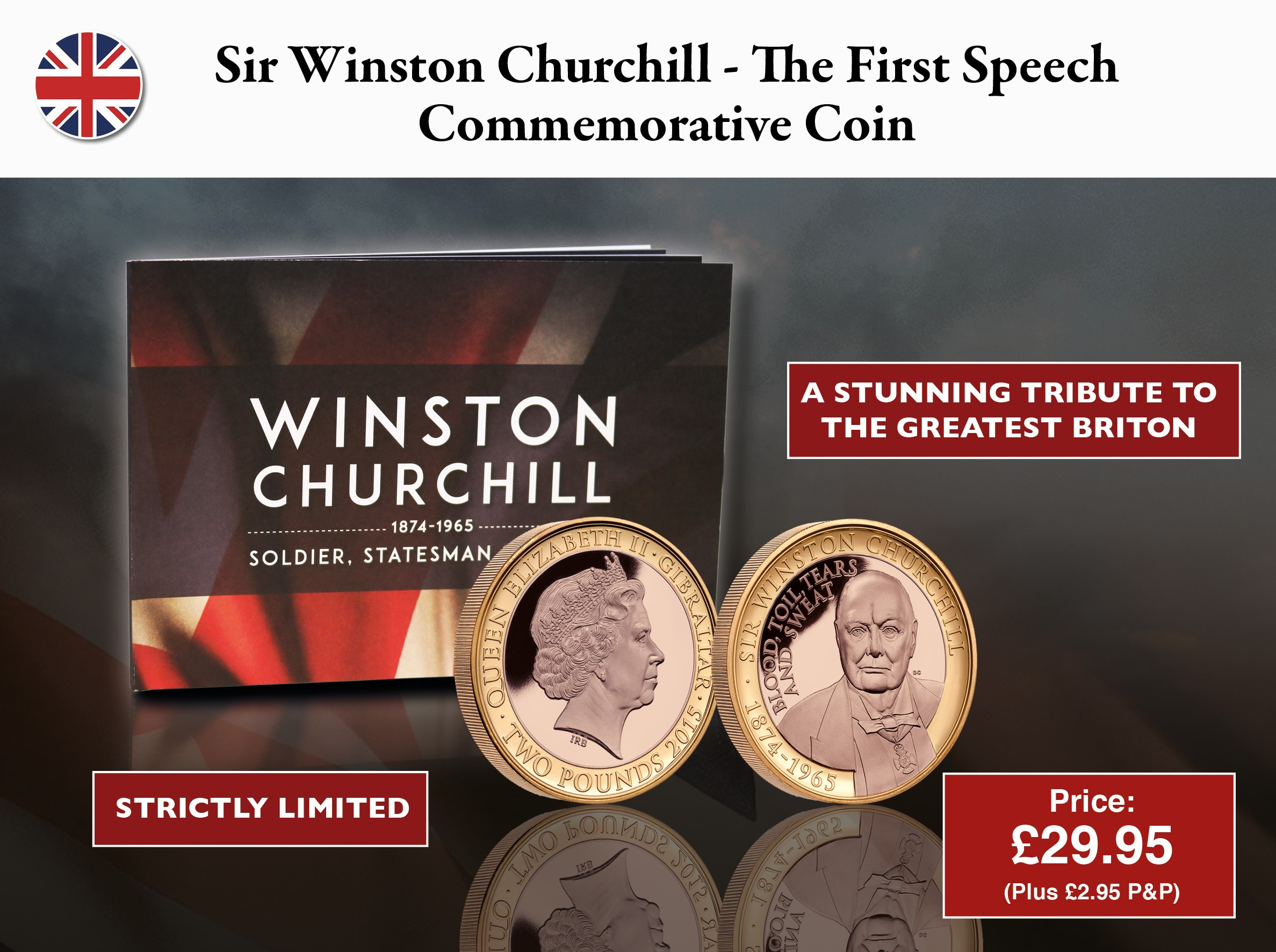 Sir Winston Churchill - The First Speech Commemorative Coin