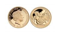 St George and The Dragon Quarter Sovereign
