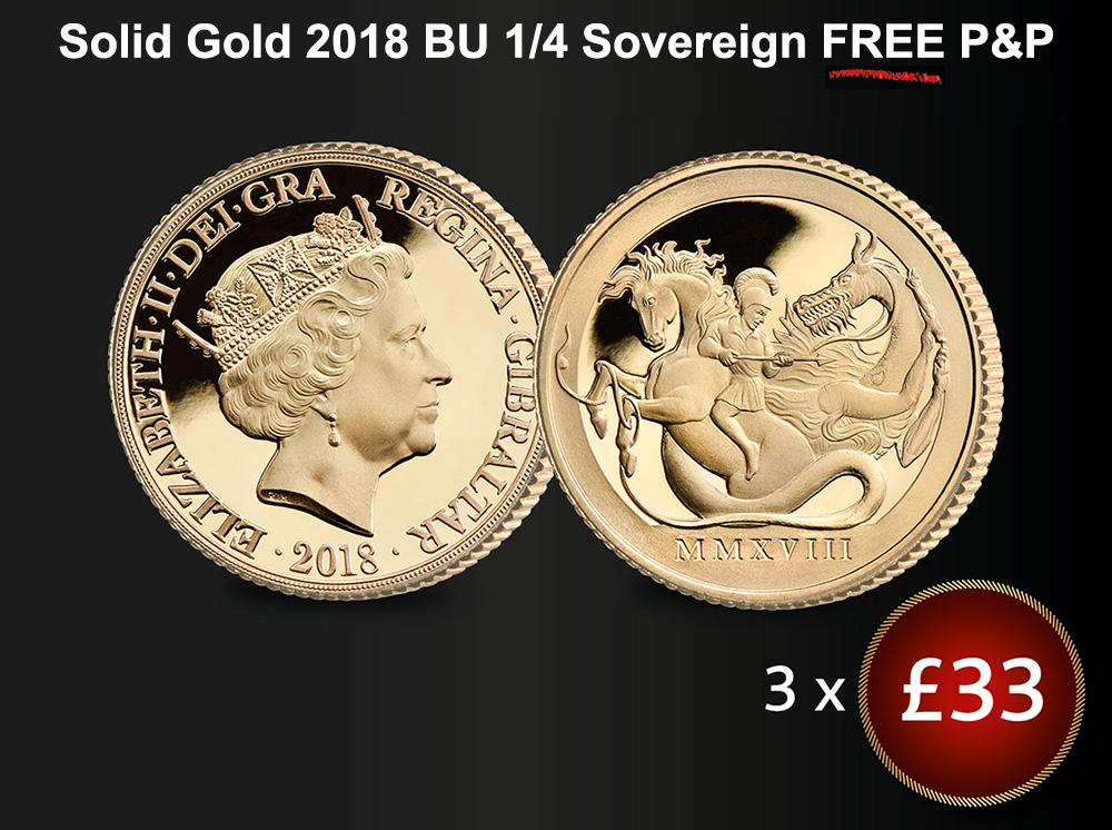 St George & The Dragon Quarter Sovereign BU