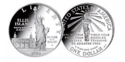 The Statue of Liberty 1986 Silver Proof Dollar