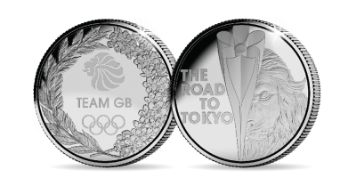 The Official Team GB 'The Road to Tokyo' Medal
