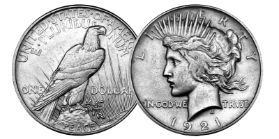 The 1921 Morgan & 1921 Peace Dollar Set