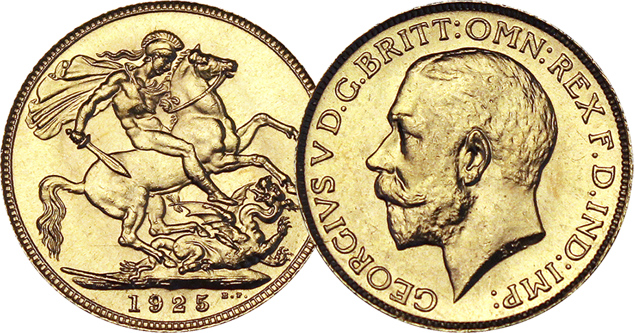 The original 1925 George V Gold Sovereign