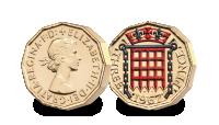 The last ever Thru'penny Bit