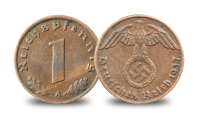 The Third Reich Coin and Stamps Set 1937