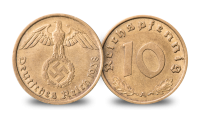 The Third Reich Coin and Stamps Set 1936