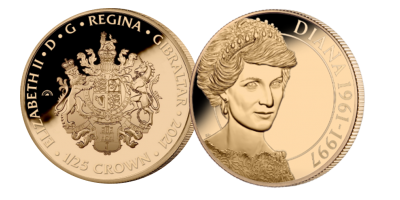 Diana 60: The English Rose 1/25th oz Gold Coin