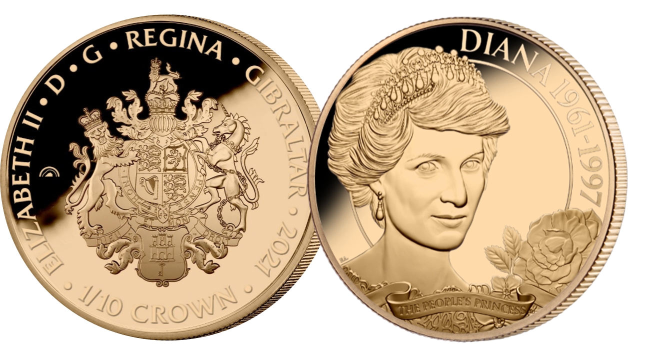 In commemoration of what  would've been her 60th Birthday, this Rose Gold layered coin features Diana as her most  recognisable self The People's Princess.