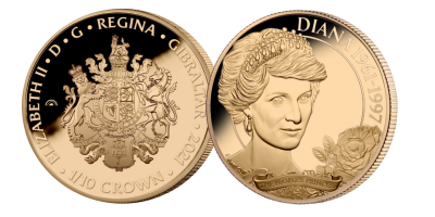 Diana 60: The English Rose 1/10th oz Gold Coin