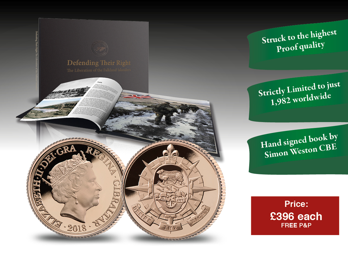 The Falklands Half Sovereign Coin and Book Set