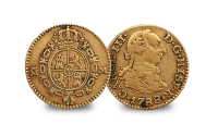 1st Gold 'Dollar' (1/2 Escudo) 1738-1788