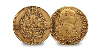 America's first gold 'dollar' - the 1/2 Escudo 1738-1788