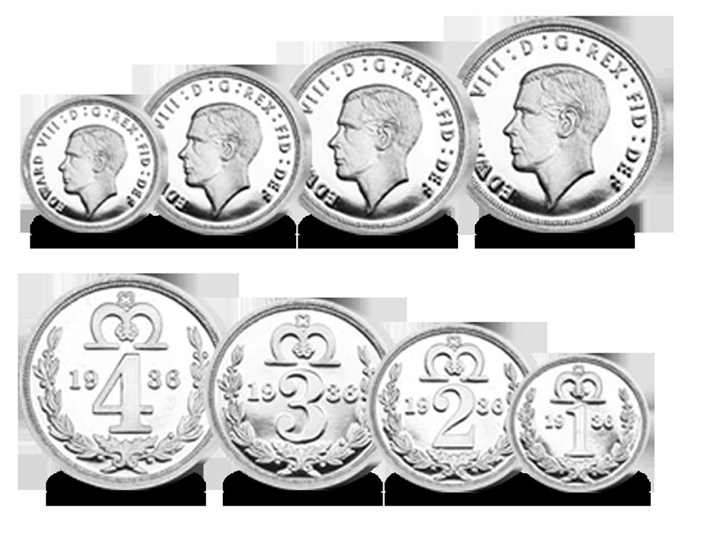 The King Edward VIII Maundy Pattern Set