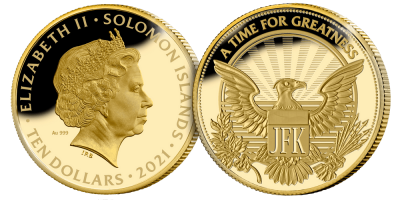 The Man Behind the Monogram President 1/10 oz Gold Coin