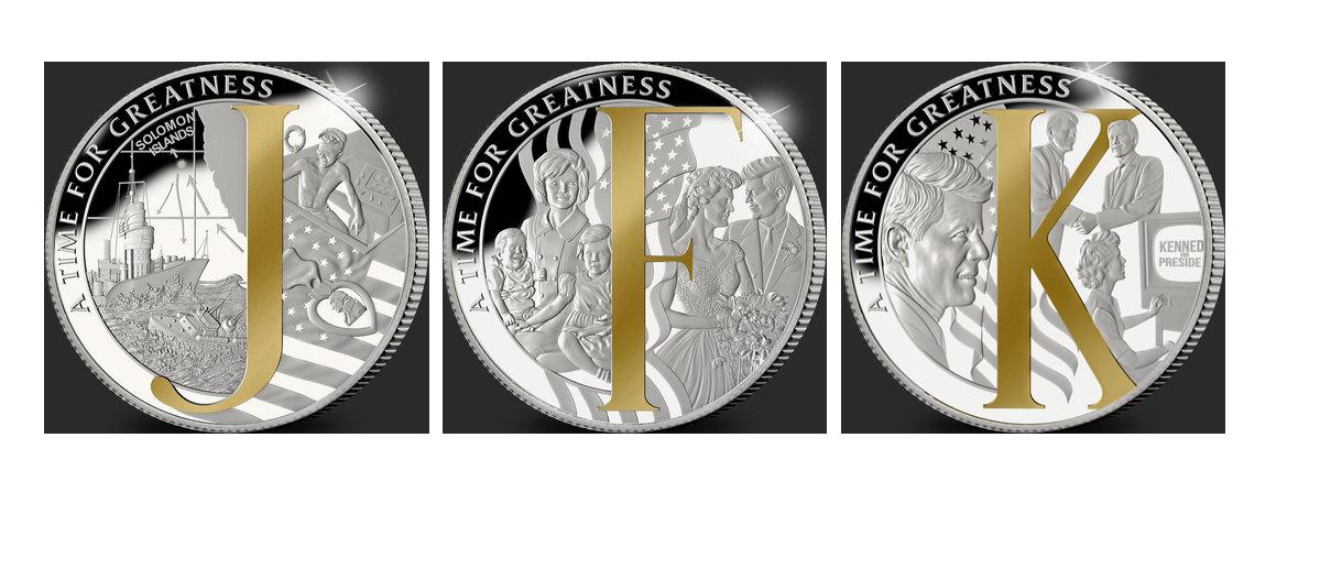 The Man Behind the Monogram Three Coin Set