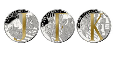 The Man Behind the Monogram Three Coin Set