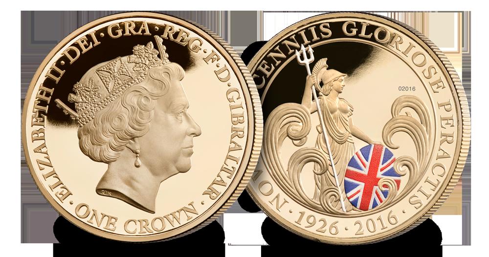 H.M Queen Elizabeth II 90th Birthday Britannia Crown
