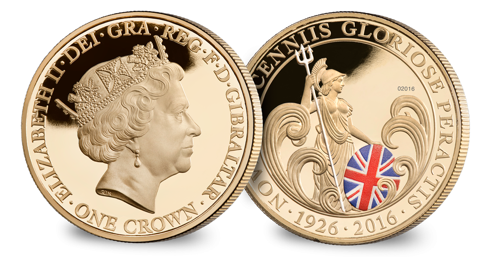 H.M Queen Elizabeth II 90th Birthday Britannia Crown