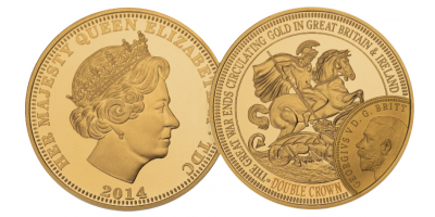 The World War I Centenary Gold Double Crown Coin