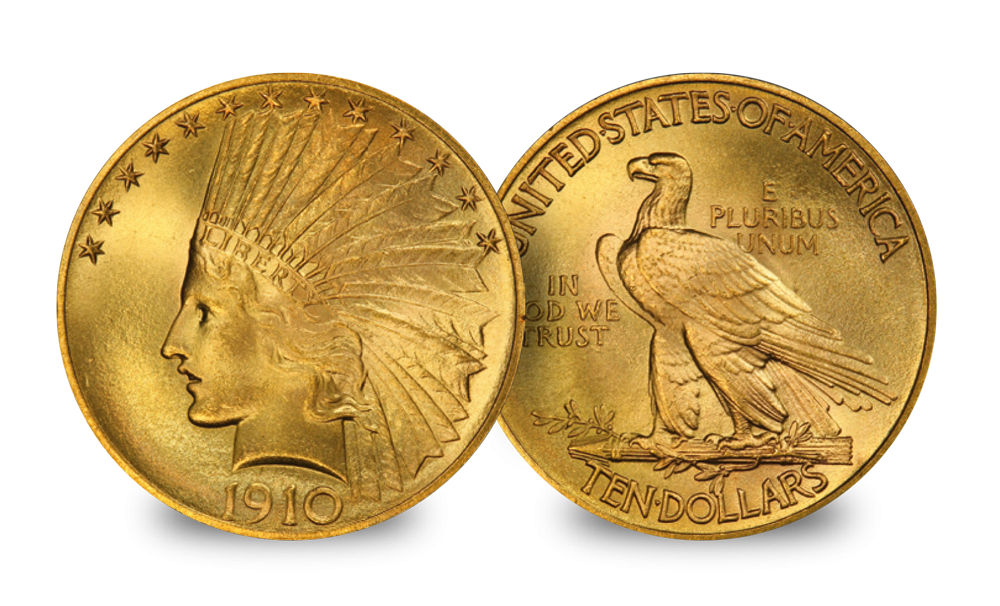 USA $10 Eagle set Gaudens & Indian head coin
