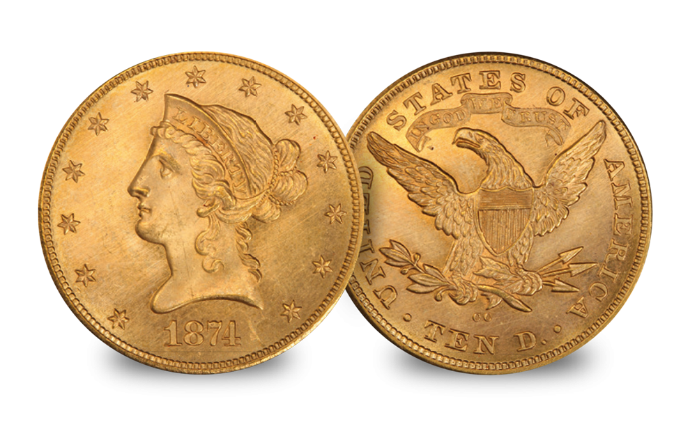 USA $10 Eagle set Gaudens & Liberty head coin