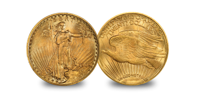 USA $20 Double Eagle set (1907-1933) Gaudens & Liberty (1849-1907)