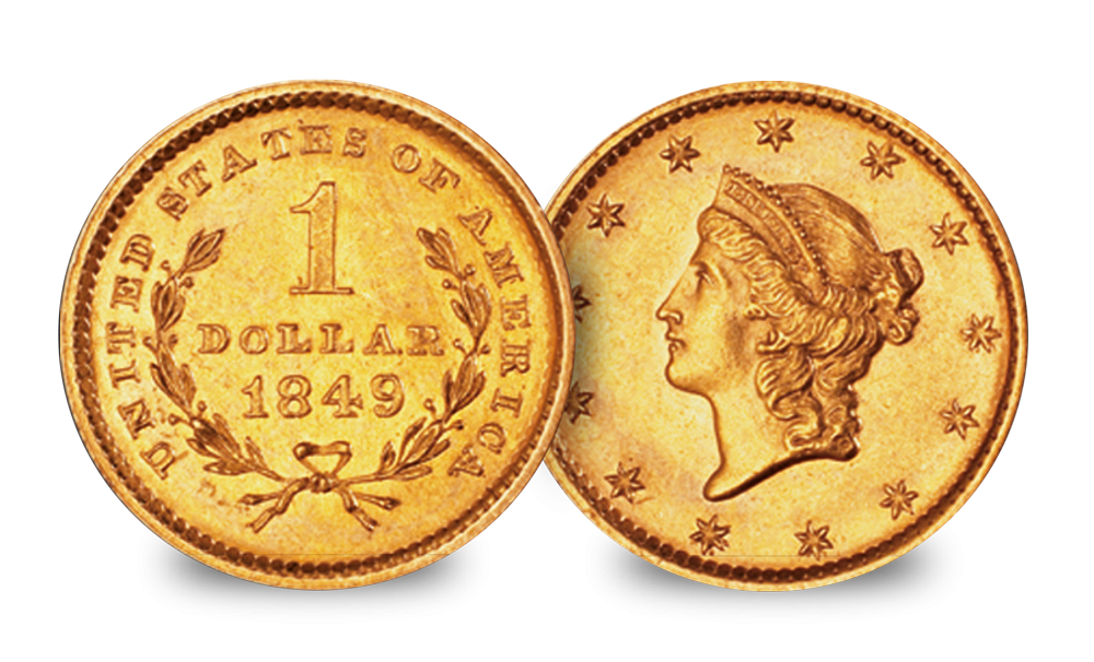 The Complete USA Gold Dollar 3 Coin Set Liberty Head