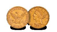 USA Gold $5 set Liberty Head Coin