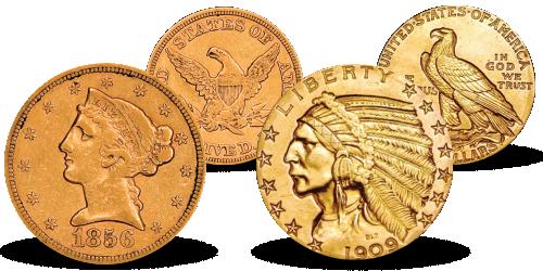 The Liberty Head & Indian Head Half Eagle Set