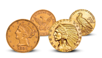 The Liberty Head & Indian Head Half Eagle Set