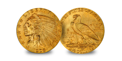The Indian Head Gold Dollar 3 Coin Type Set