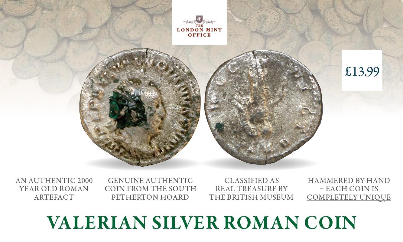 Valerian Silver Roman Coin