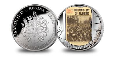 The 75th Anniversary of VE Day, 'The Headline!' Commemorative Coin