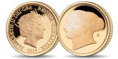 The Queen Victoria and Prince Albert 200th Anniversary Yellow Half Sovereign