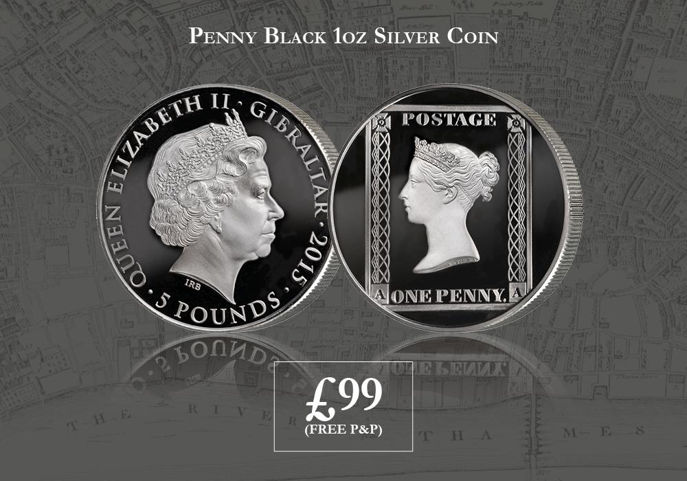 1oz Silver Penny Black Coin