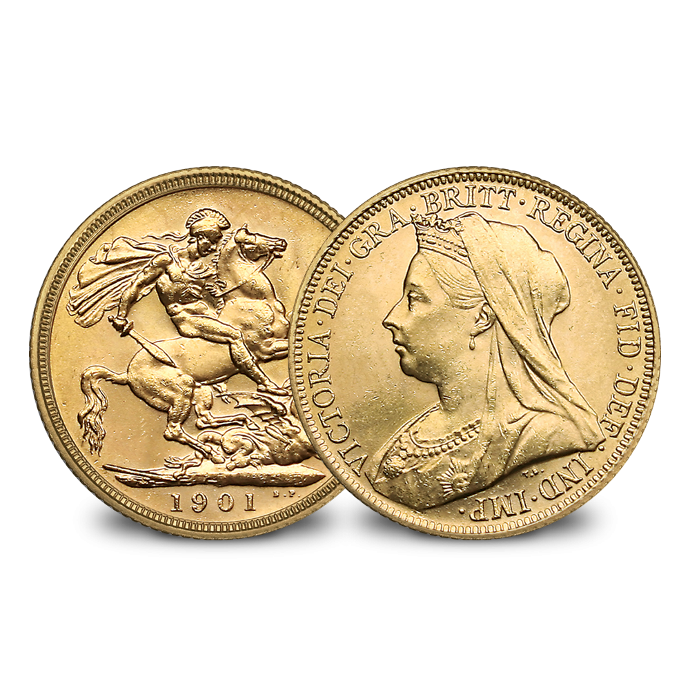 Queen Victoria Veiled Head Gold Sovereign (Solid 22 Carot Gold)